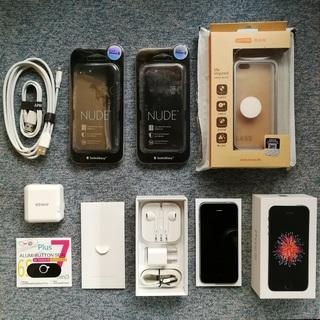 iPhone SE 64GB スペースグレイ simフリー 本体...