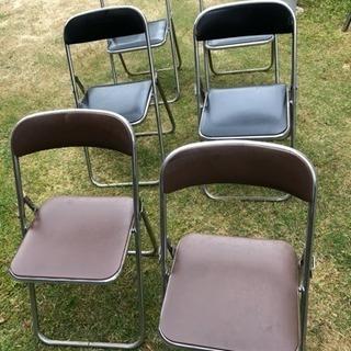 (値下げ)パイプ椅子 (6脚)→バラ売り可