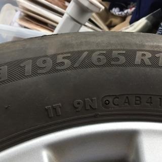 195/65R15アルミホイル付きタイヤ4本セット