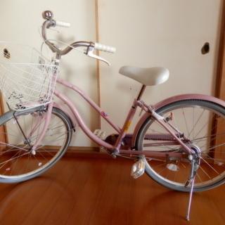 ★綺麗です。ジュニア自転車 ポンポネット 可愛いピンク