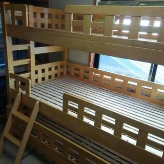 中古  3段ベッド     幅209.5  奥行106  高さ1...