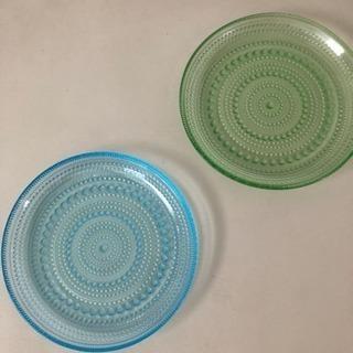 イッタラ カステヘルミ ガラス皿17センチ ライトブルー