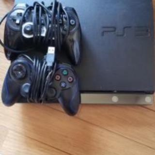 PS3本体、コントローラー2つ、ソフト11本、箱無しソフト1本