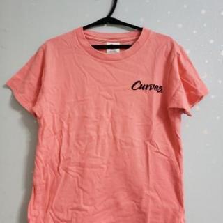 カーブス会員 Tシャツ サーモンピンク