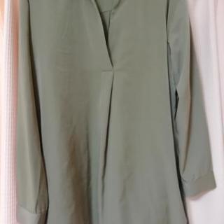 スキッパーシャツ L モスグリーン