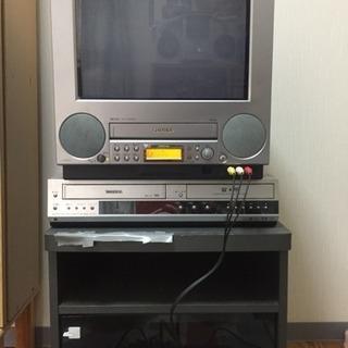ゲーム用 ブラウン管テレビ、テレビ台 あげます
