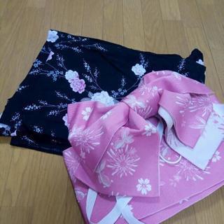 浴衣と造り帯