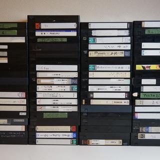 中古VHSビデオテープ 250本ちょっと ダンボール5箱分の画像