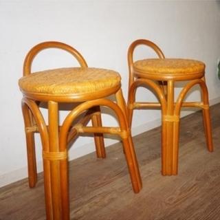 アウトレット 2脚セット アジアンテイスト 籐 座椅子 イス ...