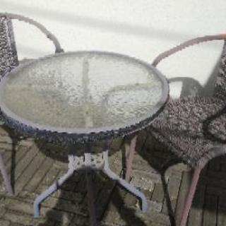 ガーデンテーブル&チェアセット ジャンク
