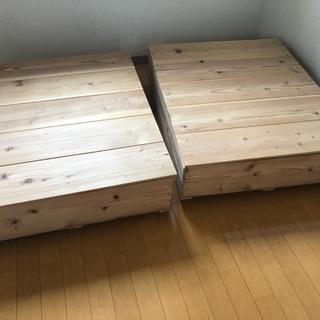 ベット下用収納ボックス 2個セット