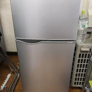 2015年製 シャープ 118L 冷凍冷蔵庫 シルバー
