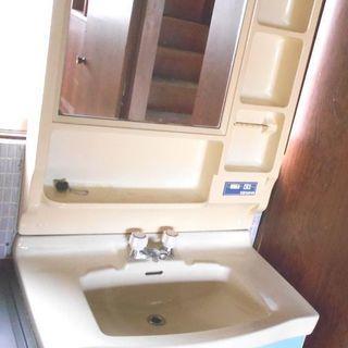● 洗面化粧台(鏡付き) アイボリー×グリーン 755 ●