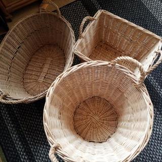 大きめ藤のかご 4個