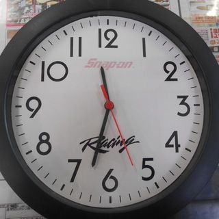 【J-1578】 スナップオン 掛け時計 ノベルティグッズ