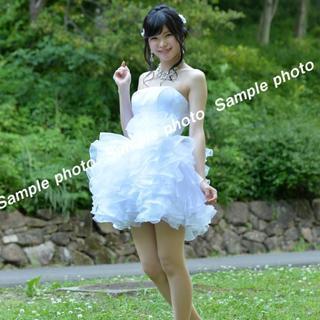 ★ウエディングドレス 美脚効果抜群の純白可愛いミニドレス♪♪