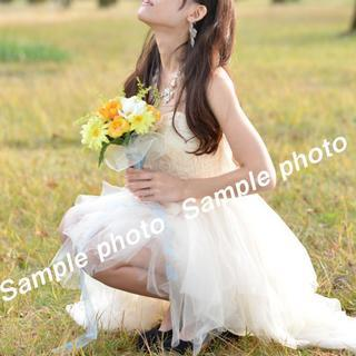 ★ウエディングドレス 美脚効果抜群の可愛いミニドレス♪♪