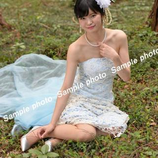 ★ウエディングドレス 水色と白のデザインの可愛いドレス♪♪