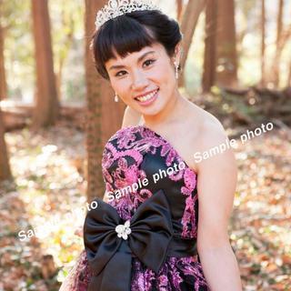★ウエディングドレス ピンクとブラックデザインの可愛いドレス♪♪