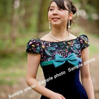 ★ウエディングドレス バイオレット基調の可愛いドレス♪♪