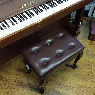 中古ピアノ椅子 茶色 猫脚 高低自在