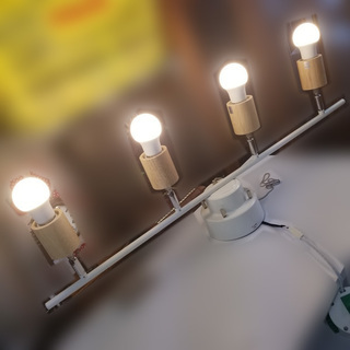 【札幌市内限定】ヤザワ ウッドヌード4灯シーリングライト ナチュ...