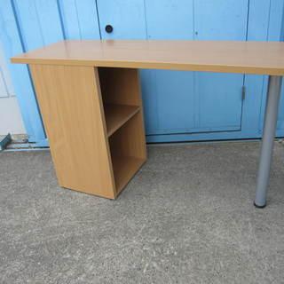サイドテーブル 木目 棚付き ナチュラル色