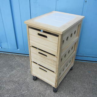木製収納 キャスター付き