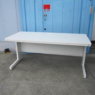平デスク ホワイト ウチダ製 W1600