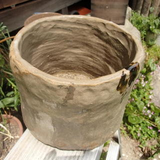 陶器 花器 鉢カバー メダカ鉢   メダカの卵のおまけ付