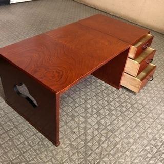 テーブル付き引き出し 手紙や書道などに折りたたみ机