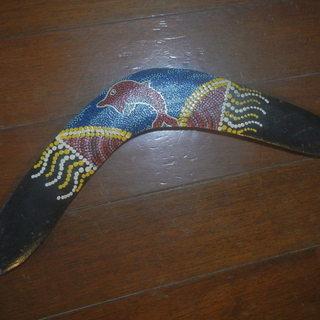 ブーメラン オーストラリア土産 イルカ・蝶々柄