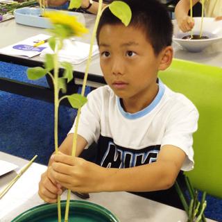 こどもいけばな教室(2019年度文化庁伝統文化親子教室事業)