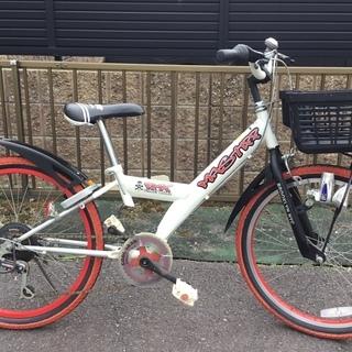 ★22インチ・ジュニア自転車  LEDライト、外装6段変速  鍵付き