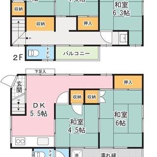 DIY可!高円寺駅徒歩5分、80㎡2階建て一戸建て5DK、庭付き!の画像
