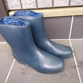 ASAHI★雨靴・レインシューズ・長靴★濃紺23.5E
