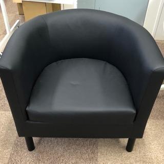 IKEA 1人掛けソファ BLACK
