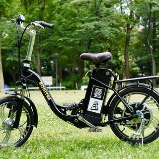 ★高速 モペット型自転車18インチ 48V大容量リチウムイオン電...