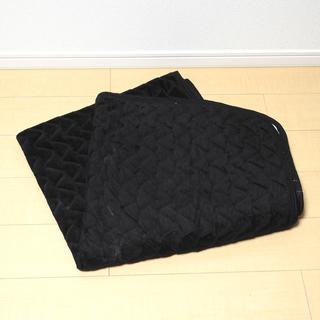ブラック ベッドパッド(黒の敷きパッド) シングル ②