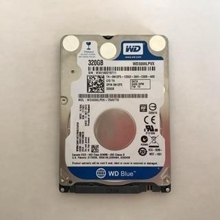 WD 2.5インチ 薄型7mm厚 HDD 320GB 中古良品 送料込