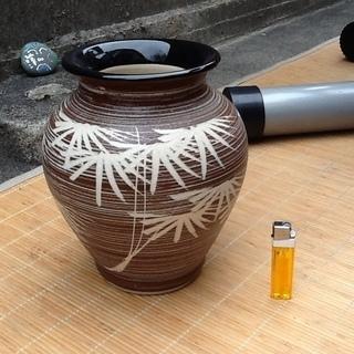 【三百円】状態の良い水英の壺、花瓶 花器、陶器 配達も可 − 京都府