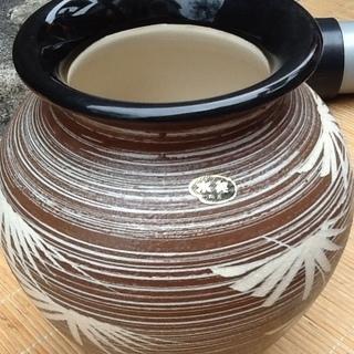 【三百円】状態の良い水英の壺、花瓶 花器、陶器 配達も可 - 京都市