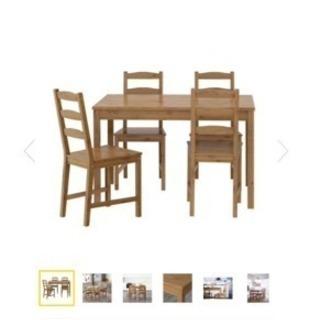 IKEA ダイニングテーブル×チェア4脚セット