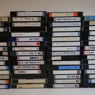 中古VHSビデオテープ 250本ちょっと ダンボール5箱分 - 下野市