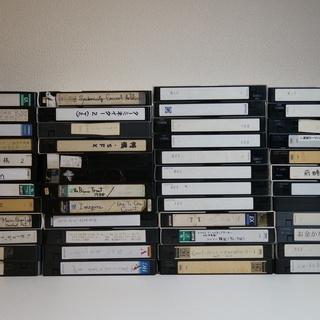 中古VHSビデオテープ 250本ちょっと ダンボール5箱分 − 栃木県