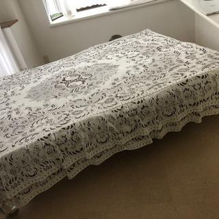 カチオンレース ベッドカバー、ベッドスカート 寝具