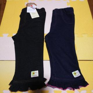 女の子洋服100cm美品ボトムスデニム風インディゴカラー