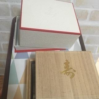 ☆使用一回のみ☆結納品の入っていた桐の箱と外箱