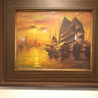 古民家にあった絵画
