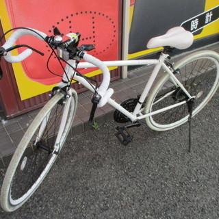 【エコプラス小倉南店】GRANDIR ロードバイク 白 3×7...